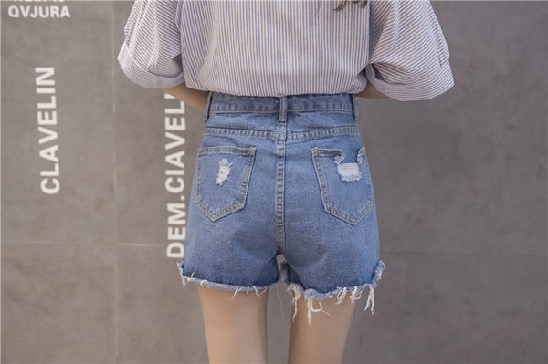 Chicloth  Cute Denim Shorts-Shorts-Chicloth