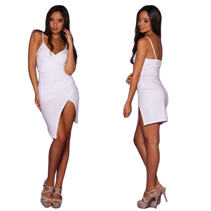 Chicloth Sexy Side split Slip Dress-Chicloth