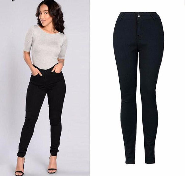 Chicloth Black High-Waist Skinny Jeans - Chicloth