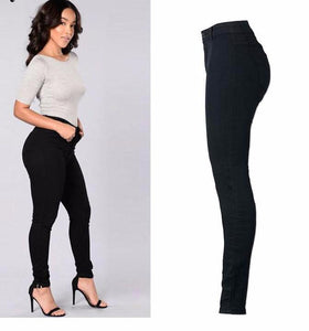 Chicloth Black High-Waist Skinny Jeans-Jeans-Chicloth