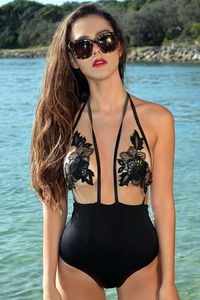 Chicloth Sexy Printed one piece Bikini Set