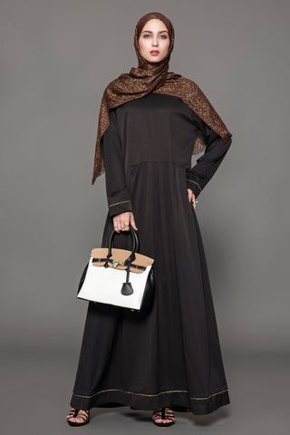 Chicloth Muslim Women Fashion Black Dress - Chicloth