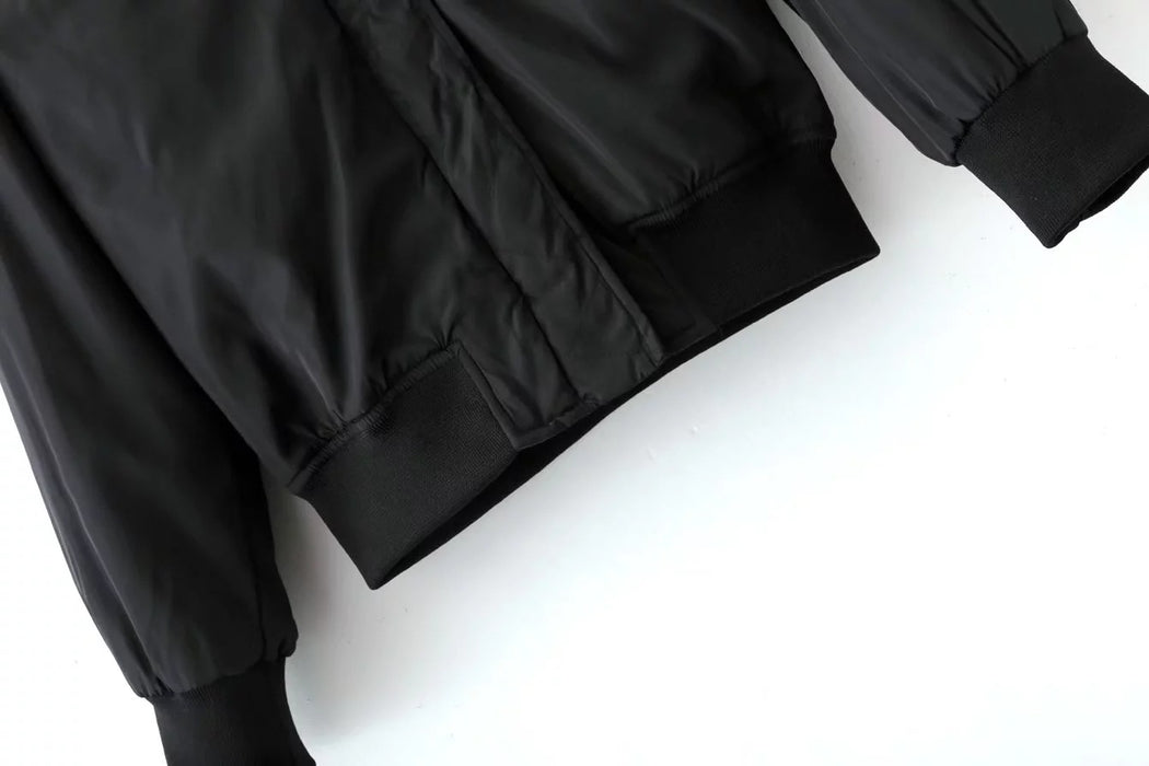 Chicloth Zipper Pocket Boyfriend Pilot Jacket Short Coat-coat-Chicloth