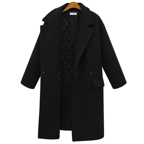 Chicloth Lapel New Style Plus Size Long Coat - Chicloth