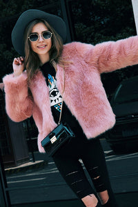 B| Chicloth Luxury Winter Artificial Fox Fur Short Coat