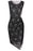 C| Chicloth Sexy Sleeveless Lace Mini Dress O Neck Back Zipper Bodycon Bandage Dress-Chicloth