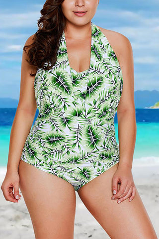 A| Chicloth Halter Neck Backless Bathing Suit Padded Push Up Swimsuit-Chicloth