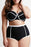 A| Chicloth Plus Size High Waist Hollow Out Two Pieces Swimsuits-Chicloth