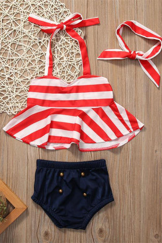A| Chicloth Children Swimwear Two Pieces Girls Swimwear Kids Infantil Swimsuit-Chicloth