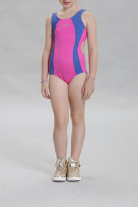A| Chicloth Girls Sports Swimsuit One Piece Children Swimwear Kids Bathing Suit