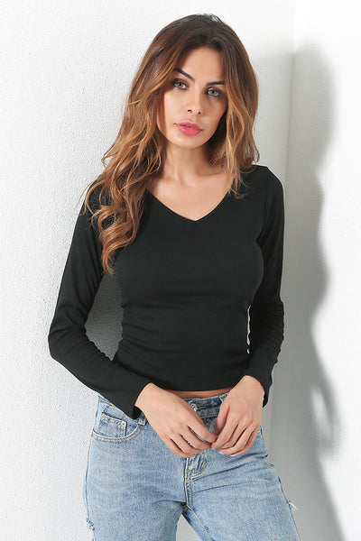 A| Chicloth 2018 Fashion Women Crew Long Sleeve Casual Tops Clothing - Chicloth