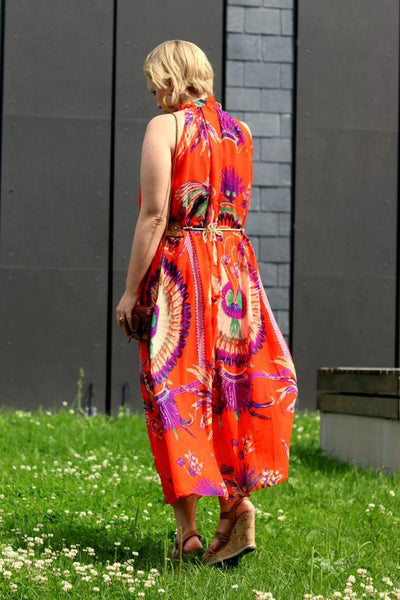 A| Chicloth Beautiful Ethnic Print Summer Dress