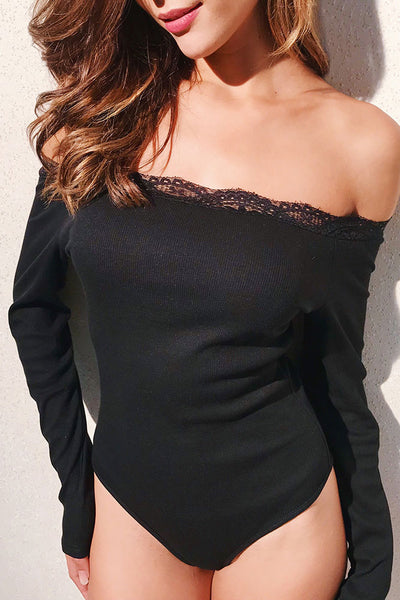 A| Chicloth 2018 Women Bodysuit Long Sleeves Off-Shoulder Bodycon - Chicloth