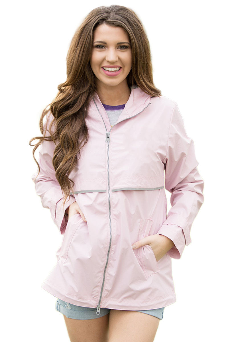 Chicloth Light Pink Women Zipper Lapel Suit Blazer with Foldable Sleeve - XL / Light Pink