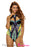 Chicloth Mesh Cutout High Neck Egyptian Print One Piece Swimsuit-One piece Swimwear-Chicloth