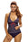 Chicloth Nautical Striped 2pcs Halter Tankini Swimsuit-Tankinis-Chicloth