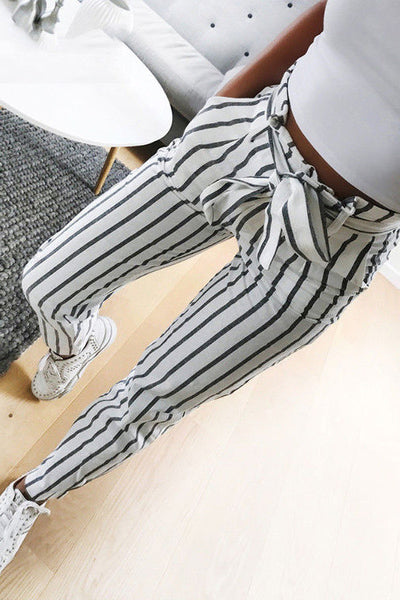 A| Chicloth New Arrival Striped Casual Women Pants
