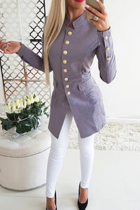 A| Chicloth Single-Breasted Fitted Solid Cony Hair Blazer For Women Coats