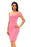 Chicloth Pink Crisscross Off Shoulder Bodycon Dress-Chicloth