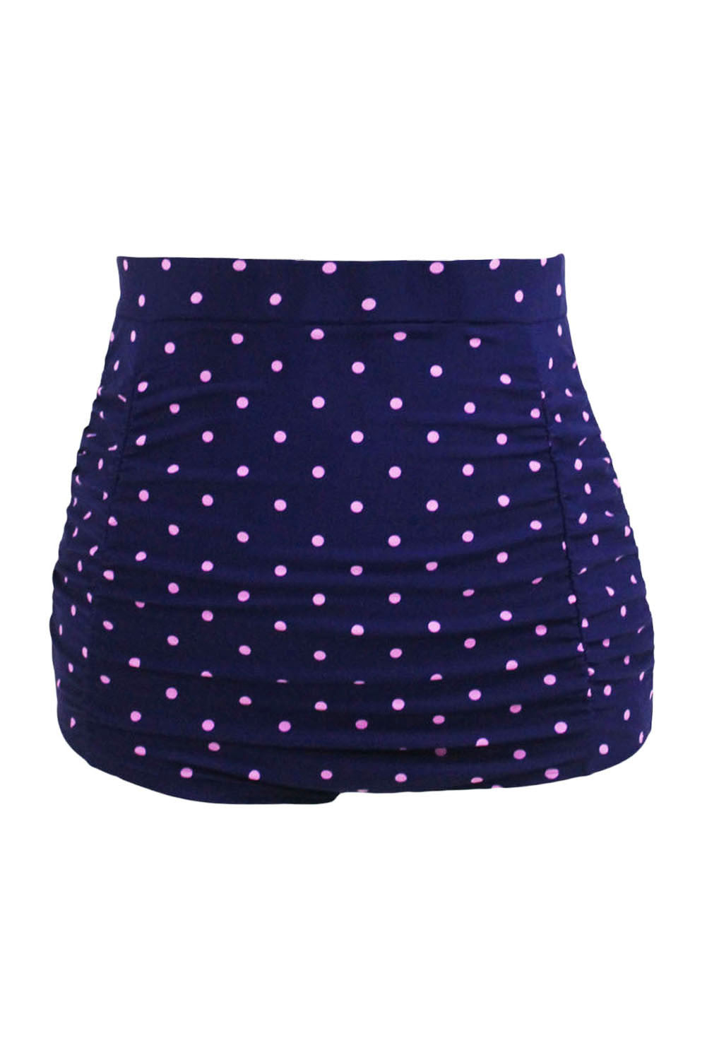 Chicloh Polka Dot Print Retro High Waist Swim Bottom