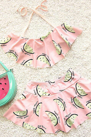A| Chicloth Two Pieces Girl Children Infant Swimwear New Kids Girl Bathing Suit-Chicloth