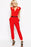 Chicloth Red Cut out Wrap Front Belted Jumpsuit-Jumpsuits & Rompers-Chicloth