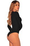 Chicloth Ribbed Knit Long Sleeves Bodysuit
