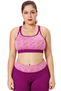 Z| Chicloth Rosy Painting Print Sports Bra Top