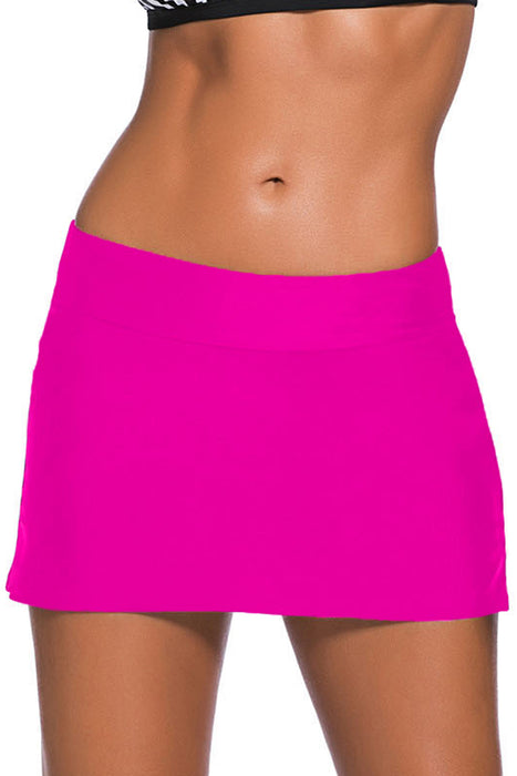 A| Chicloth Rosy Skirted Swim Bikini Bottom-Bikinis-Chicloth