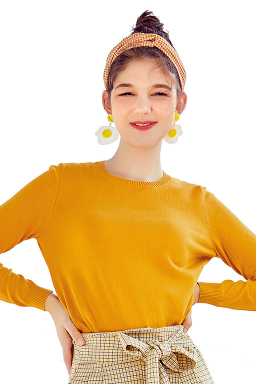 Chicloth 2019 Autumn Winter Basic  Cashmere Knitted Sweater
