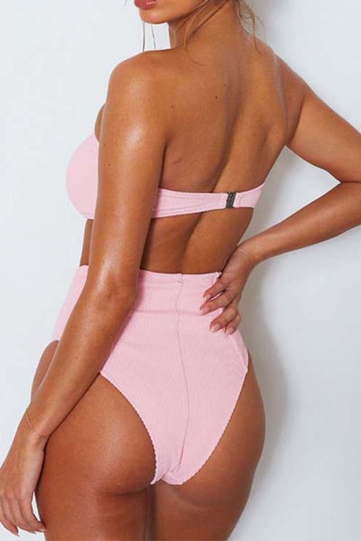 AA| Chicloth High Waist Triangle Women Bikini Sets-Chicloth