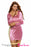 Shining Pink Yellow Party Bodycon Dress with Slit-sale-Chicloth