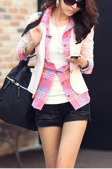 A| Chicloth Korean Slim Assorted Colors Blazer