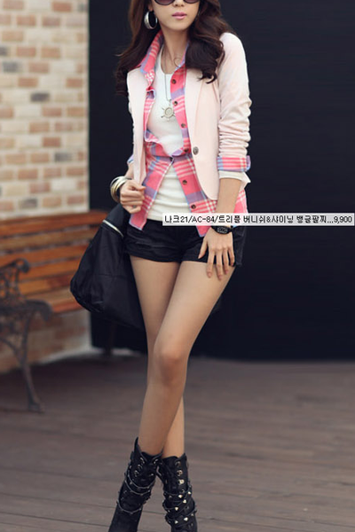 A| Chicloth Korean Slim Assorted Colors Blazer-Chicloth