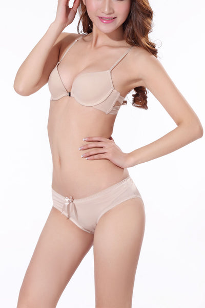 A| Chicloth Sexy Front Closure Y-line Straps Back Lace Padded Push up Seamless Bra