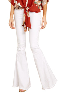Z| Chicloth White Flare Jeans