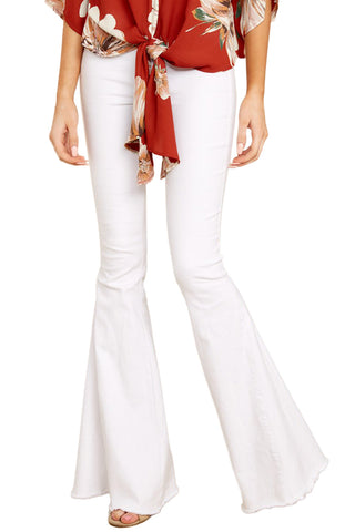 Z| Chicloth White Flare Jeans-Jeans-Chicloth