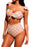 Z| Chicloth White Polka Dot Versatile Bandeau Bikini High Waist Swimsuit-Chicloth