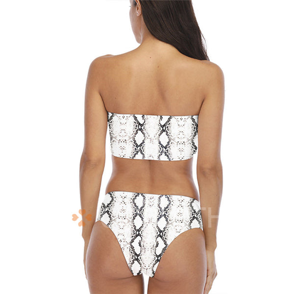 B| Chicloth Serpentine Tube Top High Waist Bikinis