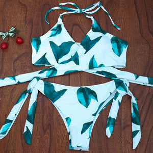 Chicloth Sexy String Print Bikini Set - Chicloth