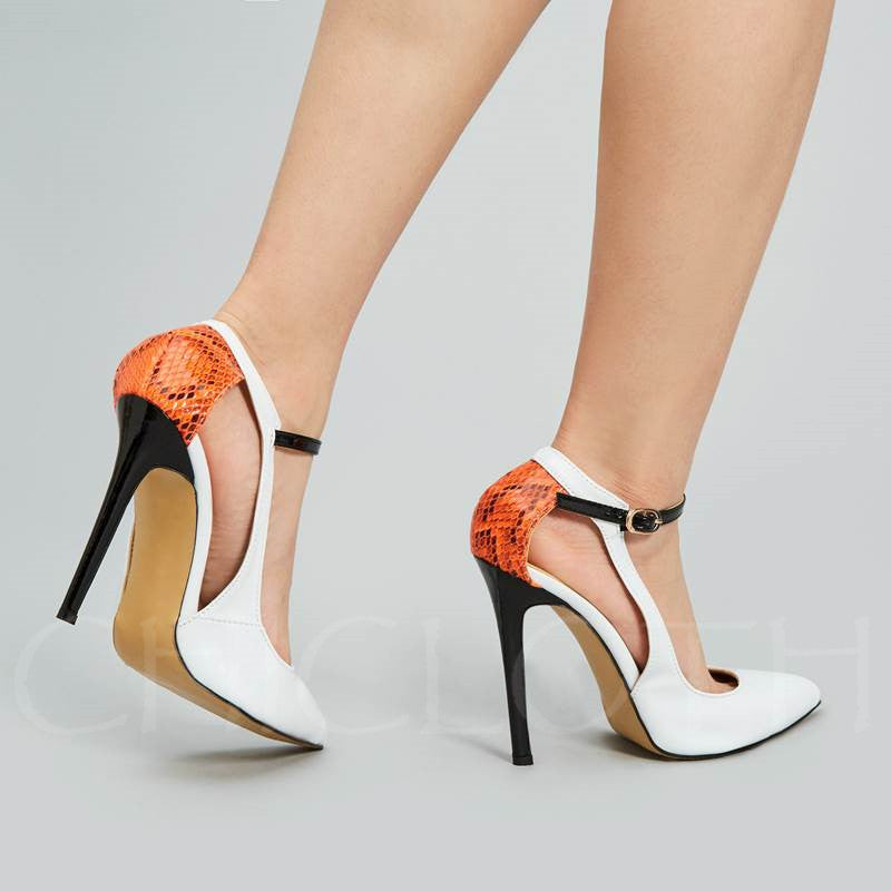2a3009539c1 Chicloth Pointed Toe Stiletto Heel Hollow Lace Women S Pumps