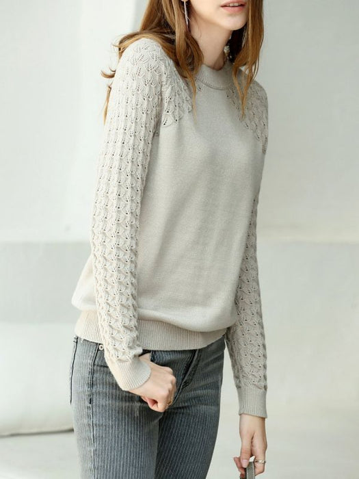 Casual Shift Long Sweaters-Sweaters-Chicloth