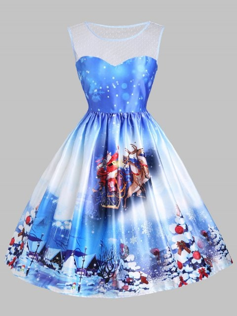 Chicloth 2018 Christmas Sled Tree Mesh Christmas Fashions-Christmas Fashions-Chicloth