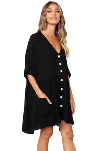 Z| Chicloth Black Natural Beauty Dress