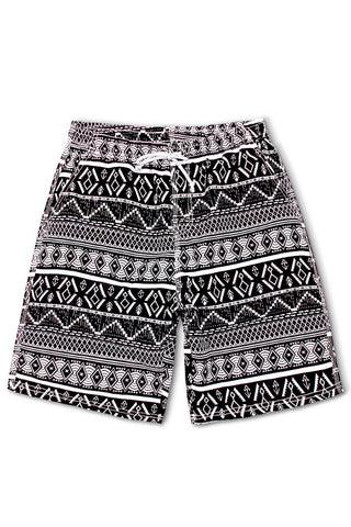 A| Chicloth Geometric Print Bohemian Men's Swim Trunks-Chicloth