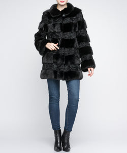 Chicloth Artificial Fox Fur Luxury Coat - Chicloth
