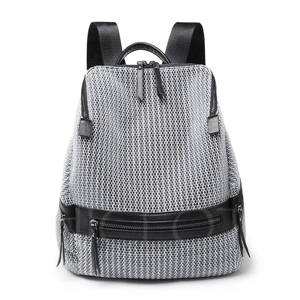 A| Chicloth Brief Korean Style Nylon Soft Backpack