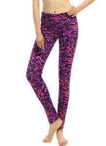 Print High Waist Pocket Stretchy Yoga Sports Leggings