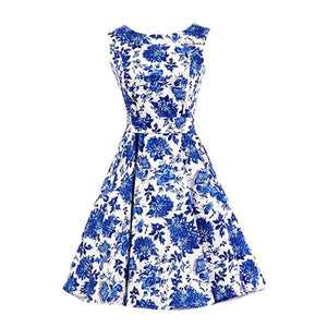 Chicloth A Song for You Blue Floral Dress-Chicloth