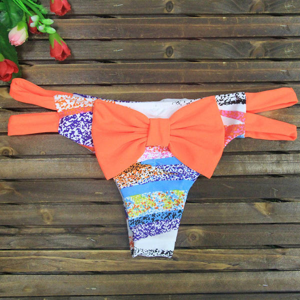 Chicloth ain't Love Orange Bow Swim Trunk